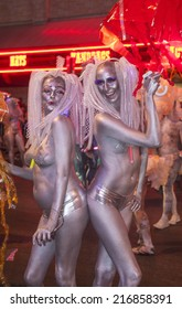 LAS VEGAS - SEP 05 : An unidentified participants at the annual Las Vegas Gay pride parade on September 05 , 2014
