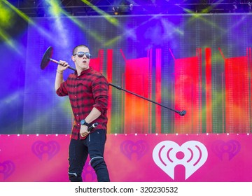 LAS VEGAS - SEP 19 : Singer Nick Jonas performs onstage at the 2015 iHeartRadio Music Festival at the Las Vegas Village on September 19, 2015 in Las Vegas, Nevada.