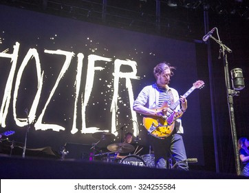 LAS VEGAS - SEP 25 : Singer Hozier performs onstage during day 1 of the 2015 Life Is Beautiful Festival on September 25, 2015 in Las Vegas, Nevada.