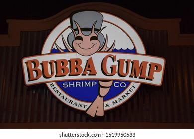 Las Vegas, September 2019 - Bubba Gump Restaurant in Las Vegas