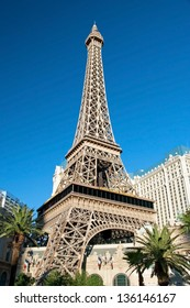 LAS VEGAS - SEPTEMBER 28:- Eiffel Tower on the Las Vegas Strip on September 28, 2011 in Las Vegas, USA. Replica of the Eiffel Tower is 541 ft (165 m) tall.