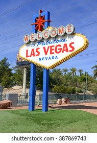 Las Vegas sign, entrance to Las Vegas Nevada, which considers itself the entertainment capital of the world