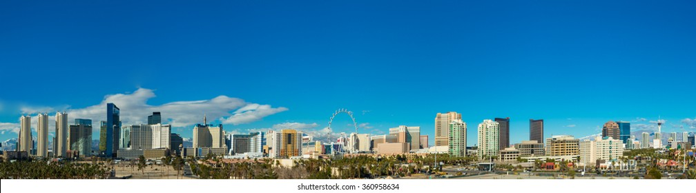 Las Vegas skyline from a distance during day time