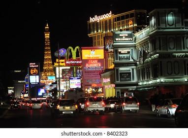Las Vegas street scene at night