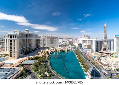 Las Vegas strip Aerial view cityscape in Nevada USA