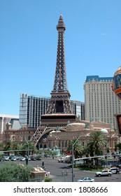 las vegas strip with paris hotel
