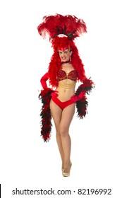 Las Vegas style showgirl