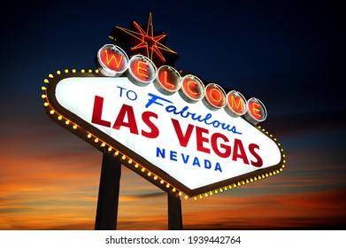 las vegas in sunset usa - Shutterstock ID 1939442764