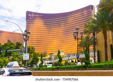 Las Vegas, United States of America - May 06, 2016: Las Vegas Wynn hotel and Casino, named after casino developer Steve Wynn
