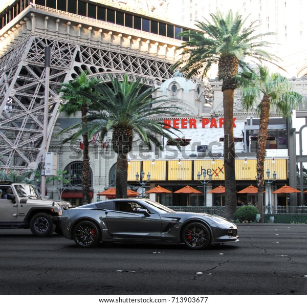 Chevrolet Las Vegas >> Las Vegas Usa 250817 Chevrolet Corvette Stock Photo Edit