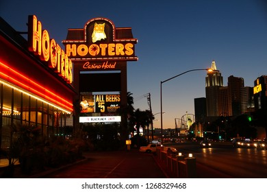 LAS VEGAS, USA - APRIL 13, 2014: Hooters casino resort in Las Vegas. There are 104 casinos in Las Vegas.