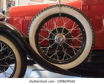 LAS VEGAS, USA - APRIL 15, 2019: The Model A Ford, successor of the Model T, was one of the best selling cars in America in the 1920s and 1930s
