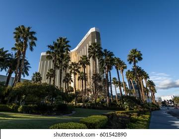 LAS VEGAS, USA - December 22, 2016: Mandalay Bay Hotel and Casino