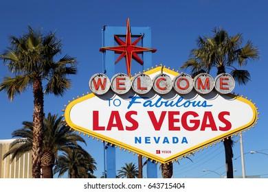 Las Vegas, USA - Jan 15, 2017: Las Vegas sign in Las-Vegas, Nevada