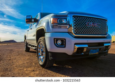 Las Vegas, USA - January 15 2018 - GMC truck on a parking