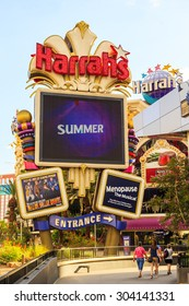 LAS VEGAS USA - JULY 7, 2015 - A Nebraska businessman lost $127 million in a single year at Harrahs owned properties, accounting for 5.6 percent of their gambling revenue that year, opened in 1973