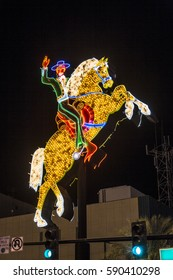LAS VEGAS, USA - JUNE 16, 2012: neon rider at Fremont Street in Las Vegas. The street is the second most famous street in the Las Vegas. Fremont Street dates back to 1905, when Las Vegas was founded.