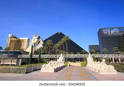 LAS VEGAS, USA - MARCH 19: Luxor hotel and casino on March 19, 2013 in Las Vegas, USA. Las Vegas is one of the top tourist destinations in the world.