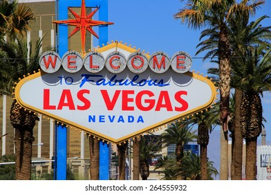 LAS VEGAS, USA - MARCH 19: Welcome to Fabulous Las Vegas sign on March 19, 2013 in Las Vegas, USA. Las Vegas is one of the top tourist destinations in the world.