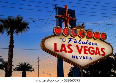 LAS VEGAS, USA - MARCH 19: Welcome to Fabulous Las Vegas sign at night on March 19, 2013 in Las Vegas, USA. Las Vegas is one of the top tourist destinations in the world.