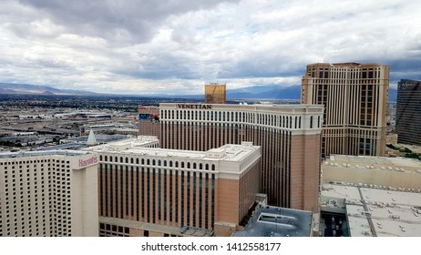 LAS VEGAS, U.S.A. - MAY 23, 2019: A view of Las Vegas from the panoramic wheel.
