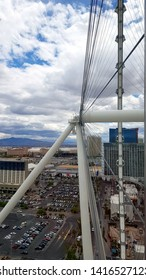 LAS VEGAS, U.S.A. - MAY 23, 2019: The view from the High Roller, the panoramic wheel in Las Vegas.
