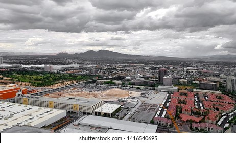 LAS VEGAS, U.S.A. - MAY 23, 2019: A view of Las Vegas from the High Roller Ferris wheel.