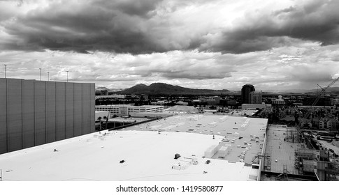 LAS VEGAS, U.S.A. - MAY 23, 2019: A view of Las Vegas from the High Roller Ferris wheel