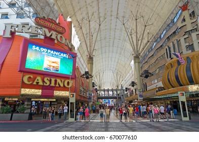 Las Vegas, USA - May 28, 2017:Fremont Street in Las Vegas, Nevada
