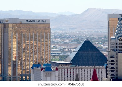 Las Vegas, USA, Nevada, July 26, 2017, Las Vegas viewed from the top of Eiffel Tower