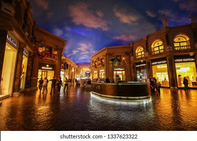 Las Vegas; USA - November, 2017; A monument in the caesars shopping mall. The caesars is one of the most famous hotel and casinos in the world.