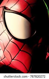 LAS VEGAS, USA - Oct 10, 2017: Close up Spider man, Madame Tussauds museum in Las Vegas.