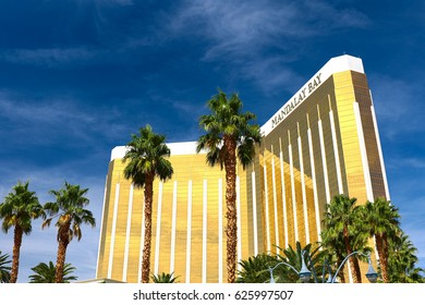 Las Vegas, USA - OCT 9 ,2016:Mandalay Bay in Las Vegas. Mandalay Bay Resort and Casino in Las Vegas offers unmatched luxury, fine dining, renowned entertainment, personal service.