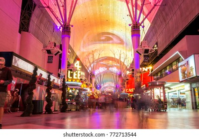 Las Vegas, USA - October 1, 2012: Colorful Fremont street is a part of famous Las Vegas Strip