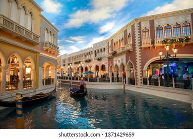 LAS VEGAS, USA - OCTOBER 16, 2018: The Venetian Resort Hotel Casino opened on May 3, 1999.