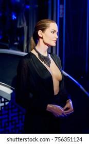 LAS VEGAS, USA - SEP 19, 2017: Angelina Jolie, American actress,   Madame Tussauds wax museum in Las Vegas Nevada.