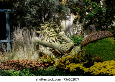 LAS VEGAS, USA - SEP 21, 2017: Ent in the Conservatory  in Bellagio, a resort, luxury hotel and casino on the Las Vegas Strip in Paradise, Nevada
