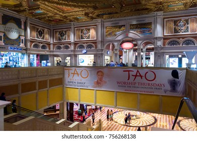 LAS VEGAS, USA - SEP 21, 2017: Venetian , a five-diamond luxury hotel and casino resort, Las Vegas Strip in Paradise, Nevada