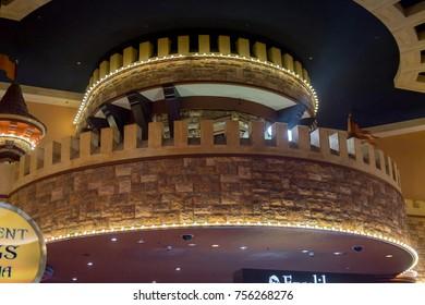 LAS VEGAS, USA - SEP 21, 2017: Decoration of the Excalibur Hotel and Casino, Las Vegas Strip in Paradise, Nevada, United States