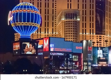 LAS VEGAS, USA - SEPT 23 : View of the strip on September 23, 2010 in Las Vegas. The Las Vegas Strip is an approximately 4.2-mile (6.8 km) stretch of Las Vegas Boulevard in Clark County, Nevada.