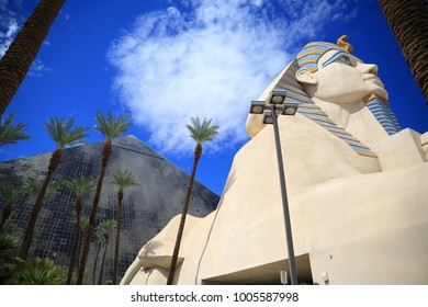 Las Vegas, USA - September 13,2017: Luxor hotel in Las Vegas strip. The hotel officially opened at 4 AM on October 13, 1993, to a crowd of 10,000 people