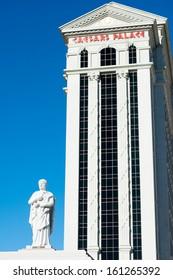 LAS VEGAS, USA - SEPTEMBER 27: Nero's statue in Caesar's Palace. Caesar's has 3,960 rooms in six towers: Augustus, Centurion, Roman, Palace, Octavius, and Forum. Las Vegas, September 27, 2013