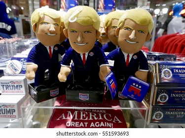 Las Vegas, USA-January 5, 2017: Trump Dolls for sale to celebrate his inauguration