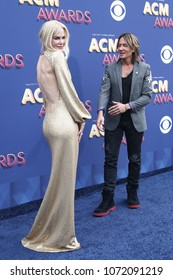 LAS VEGAS-APR 15: Actress Nicole Kidman and Keith Urban attend the 53rd Annual Academy of Country Music Awards on April 15, 2018 at the MGM Grand Arena in Las Vegas, Nevada.