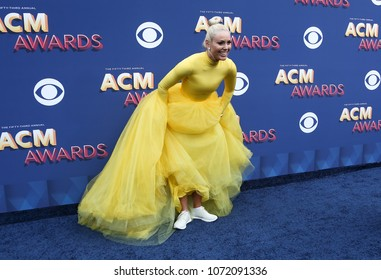 LAS VEGAS-APR 15: Olympian Lindsey Vonn attends the 53rd Annual Academy of Country Music Awards on April 15, 2018 at the MGM Grand Arena in Las Vegas, Nevada.