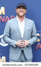 LAS VEGAS-APR 15: Singer Cole Swindell attends the 53rd Annual Academy of Country Music Awards on April 15, 2018 at the MGM Grand Arena in Las Vegas, Nevada.