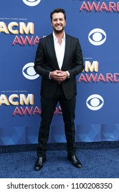 LAS VEGAS-APR 15: Singer Luke Bryan attends the 53rd Annual Academy of Country Music Awards on April 15, 2018 at the MGM Grand Arena in Las Vegas, Nevada.