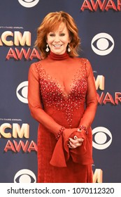 LAS VEGAS-APR 15: Singer Reba McEntire attends the 53rd Annual Academy of Country Music Awards on April 15, 2018 at MGM Grand in Las Vegas, Nevada.