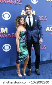 LAS VEGAS-APR 15: Singers Maren Morris and Ryan Hurd attend the 53rd Annual Academy of Country Music Awards on April 15, 2018 at the MGM Grand Arena in Las Vegas, Nevada.