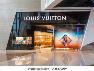 Las Vegas,AZ/USA - 6.27.19:  Louis Vuitton at The Shops at Crystals, it is one of the world's leading international fashion houses, a French fashion house & luxury retail company founded in 1854.